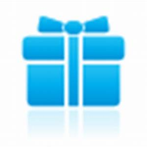 Gift Icon - Mono Reflection Blue Icons - SoftIcons.com