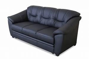 Couch Mit Schlaffunktion Günstig : leder 3er sofa mit schlaffunktion schwarz sofas zum halben preis ~ Eleganceandgraceweddings.com Haus und Dekorationen