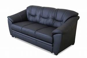 Sofa Mit Schlaffunktion Leder : leder 3er sofa mit schlaffunktion schwarz sofas zum ~ Bigdaddyawards.com Haus und Dekorationen
