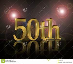50th Birthday Party Invitation Stock Image - Image: 10567321