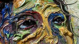 X1098 Original Modern Oil Painting Large Impressionist Art Impasto Face 3d Texture Painter