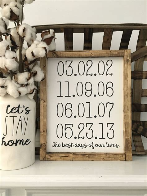 days   lives personalized  family wood
