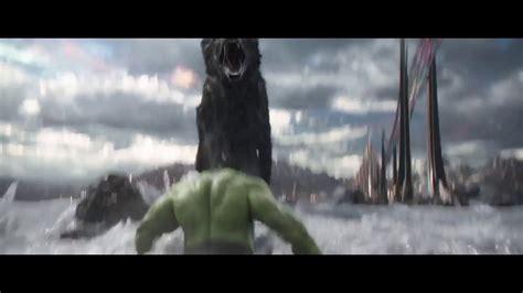 hulk  fenrir giant wolf dog scene thor  ragnarok