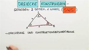 Winkel Dreieck Berechnen 3 Seiten Gegeben : dreiecke konstruieren 2 seiten und 1 winkel gegeben sws mathematik online lernen ~ Themetempest.com Abrechnung