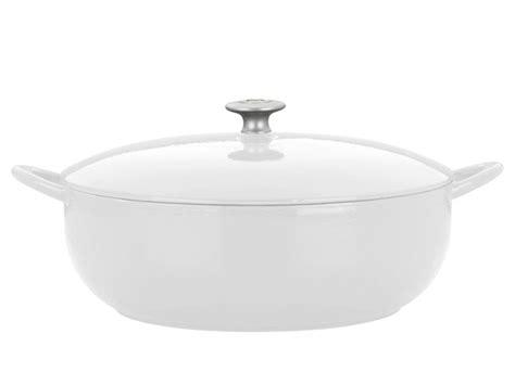 mario batali enameled cast iron stew pot  quart white cutlery