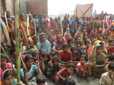 bihar india peoples movement stalls  construction