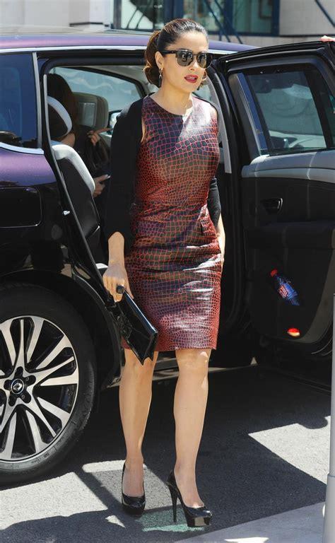 Salma Hayek Her Husband Arrives Cannes Boat Party