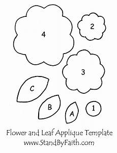 free flower and leaf applique template applique With felt shape templates