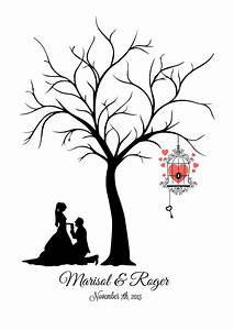 canvas fingerprint tree wedding tree guest book template With wedding tree guest book free template