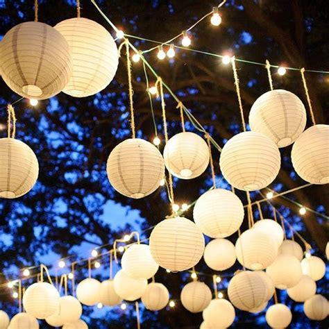 paper lantern lights event decorating on a budget
