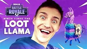 Ninja Finds The Loot Llama Fortnite Battle Royale