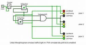 Berbagi Ilmu  Rangkaian Simulator Traffic Light
