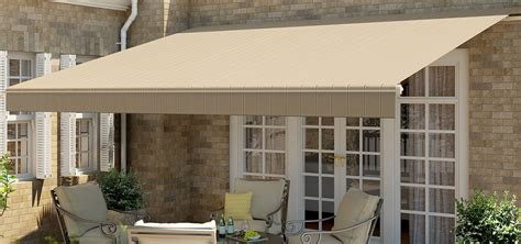 sunbrella fabric by the motorized retractable awnings buy from