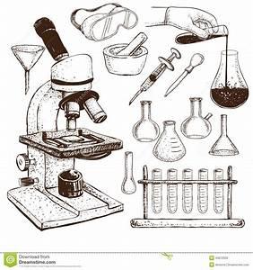 Laboratory Equipment Doodle Stock Vector