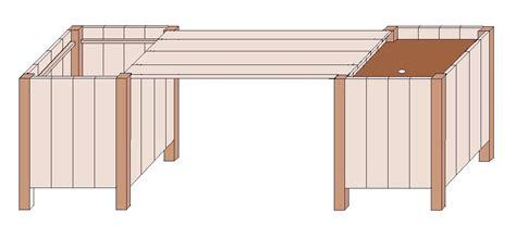 pflanzkübel selber machen pflanzk 252 bel sitzbank tisch 3 in einem anleitung