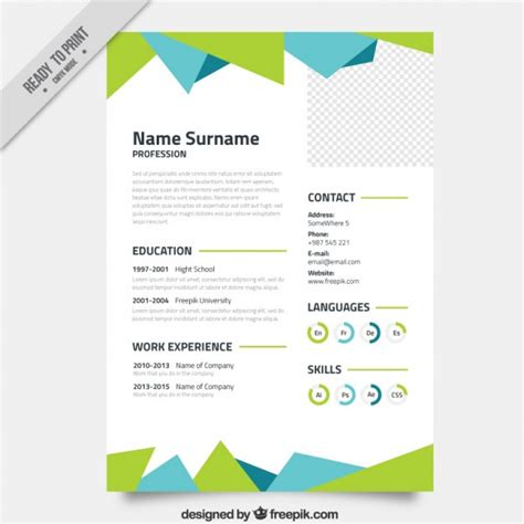 abstract resume template vector premium