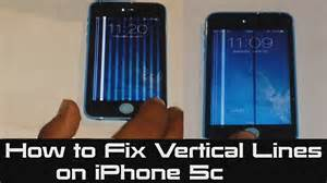 how to fix a iphone how to fix vertical lines on iphone 5c unresponsive