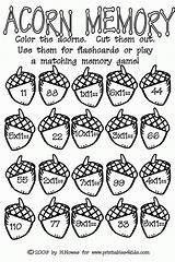 Coloring Acorns Acorn Math Preschool Popular sketch template