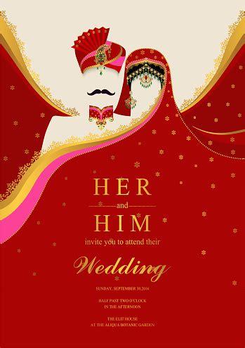 wedding invitation card templates  indian man