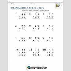 Math Addition Worksheets 1st Grade