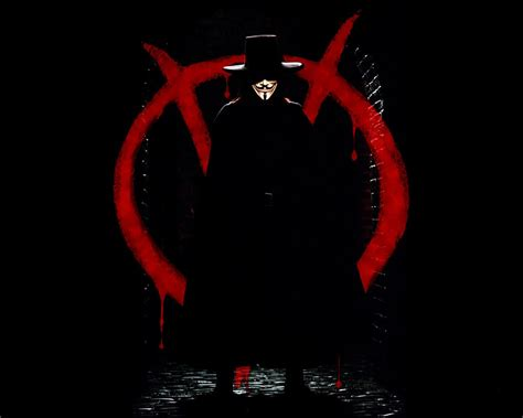 Guy Fawkes V For Vendetta Black Background Wallpaper