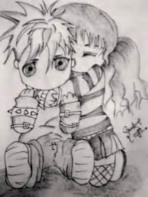 Emo Cartoon Love Drawings