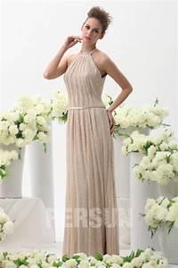 Robe Pour Temoin De Mariage : robe longue pour t moin de mariage en dentelle champagne ~ Melissatoandfro.com Idées de Décoration
