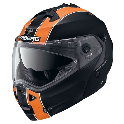 motocross crash helmets caberg duke legend matt black orange motorcycle helmet