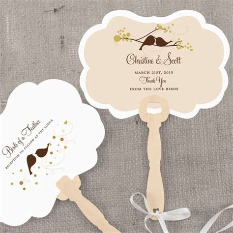 hand fans for wedding personalized love birds hand fans