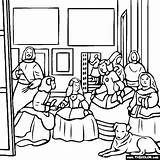 Velazquez Diego Coloring Velasquez Pages Honor Maids Meninas Las Thecolor Famous Painting Dibujos Cuadro Paintings Colouring Cuadros La Goya sketch template