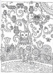 Abstract Owl Coloring Pages Paisley
