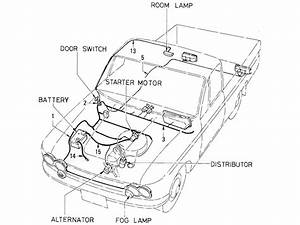 Diagram  Alternator Wiring Diagram Datsun 1600 Full
