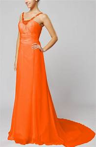 tangerine wedding dress elegant outdoor sheath lace up With tangerine dresses for wedding