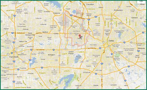 map of dallas fort worth best of roundtripticket me