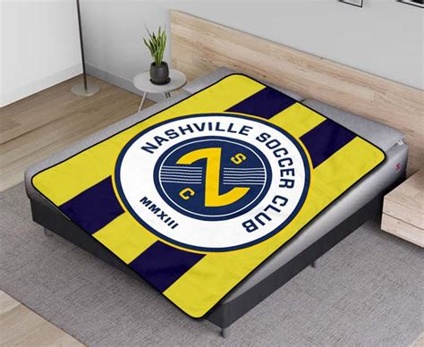 Nashville SC MLS Soccer Team Fleece Blanket Quilt - Fear Fish