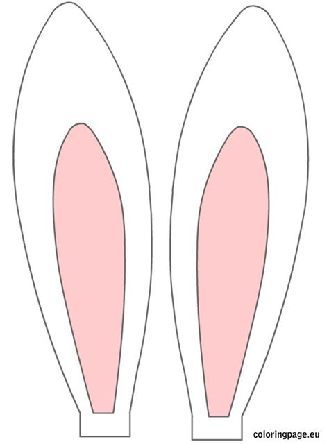 printable bunny ears easter rabbit ears easter pinterest coloring happy  le