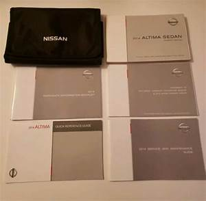 14 2014 Nissan Altima Owners Manual Oem Guide Books Set