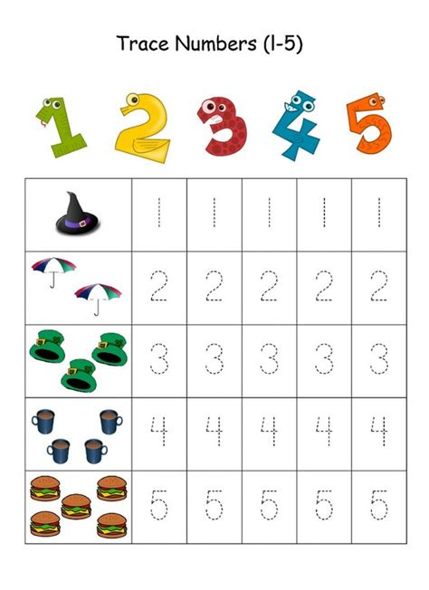 tracing numbers    kids kids learning activity