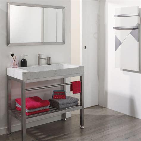 meuble salle de bain inox
