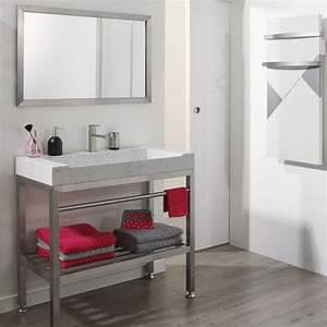 Meuble Salle De Bain : meuble salle de bain inox ~ Teatrodelosmanantiales.com Idées de Décoration