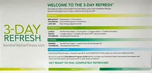 3 Day Refresh Directions