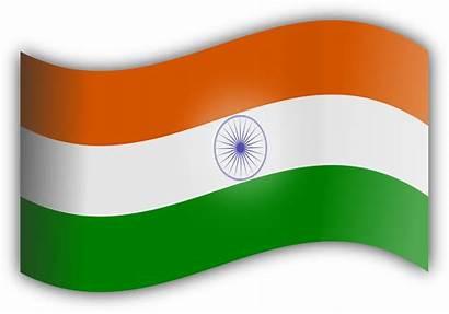 Flag Indian Clip India Clipart Flags Transparent