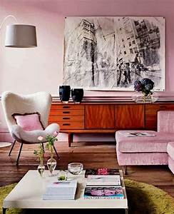 Inspired pink living room furniture with floor lamps for Pink accessories for living room