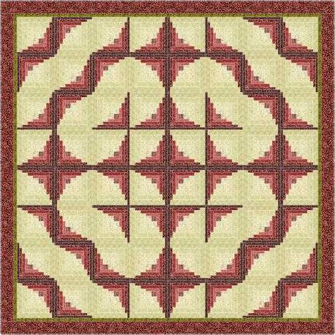 Curved Log Cabin Quilt Pattern