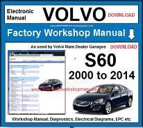 Volvo S60 Repair Manual by Volvo Workshop Manuals