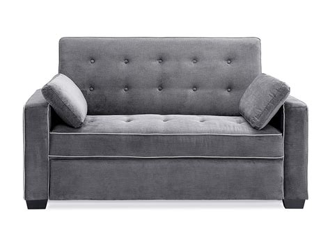 Sofa Bed Size by Augustine Loveseat Size Sleeper Moon Grey By Serta