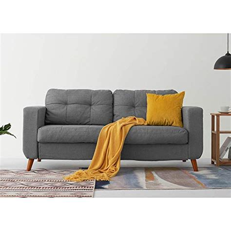 Fabric Settees And Sofas by Linen Fabric Sofa Settee Living Room Furniture In Grey