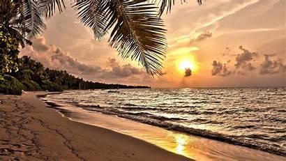 Sunset Beach Tropical Desktop Widescreen Resolutions Wide