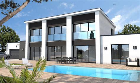 plan plain pied 4 chambres maison moderne sur mesure 44 56 85 depreux construction