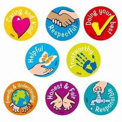 Values Stickers Character Merit Classroom Education Educational